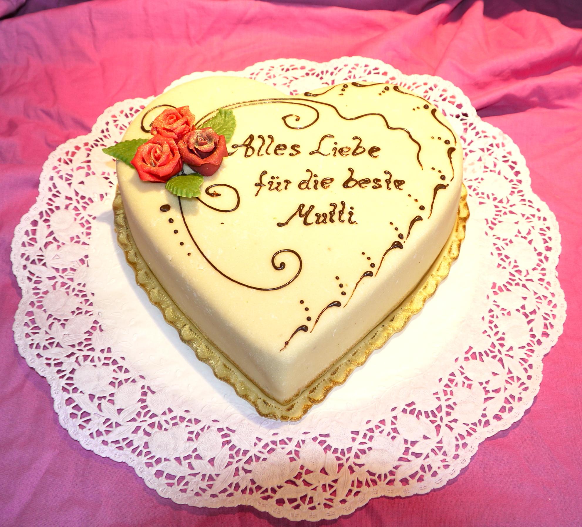 Geburtstagstorte herz Bäckerei Rose Weimar