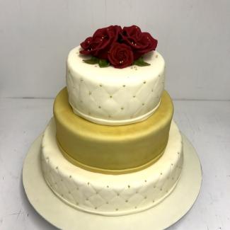 Hochzeitstorte gold Bäckerei rose Weimar