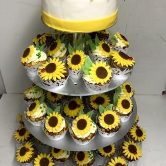 Sonnenblumen Hochzeitstorte Bäckerei Rose Weimar Bild