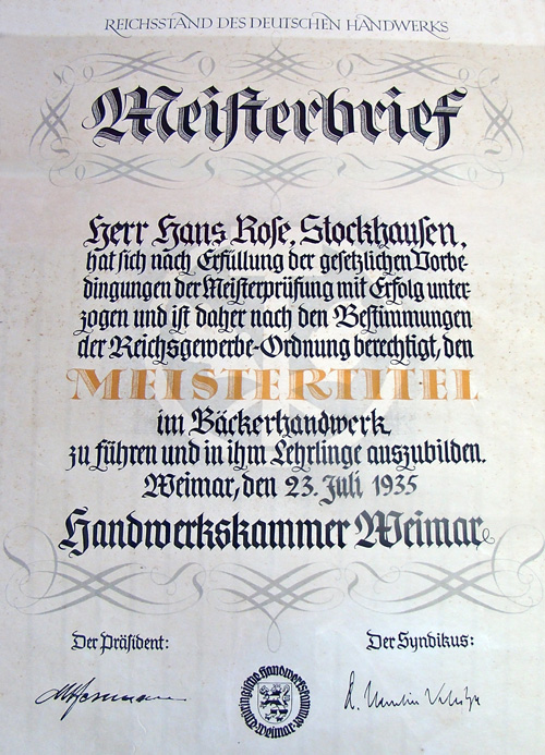 01- hans-rose-meisterbrief-1935