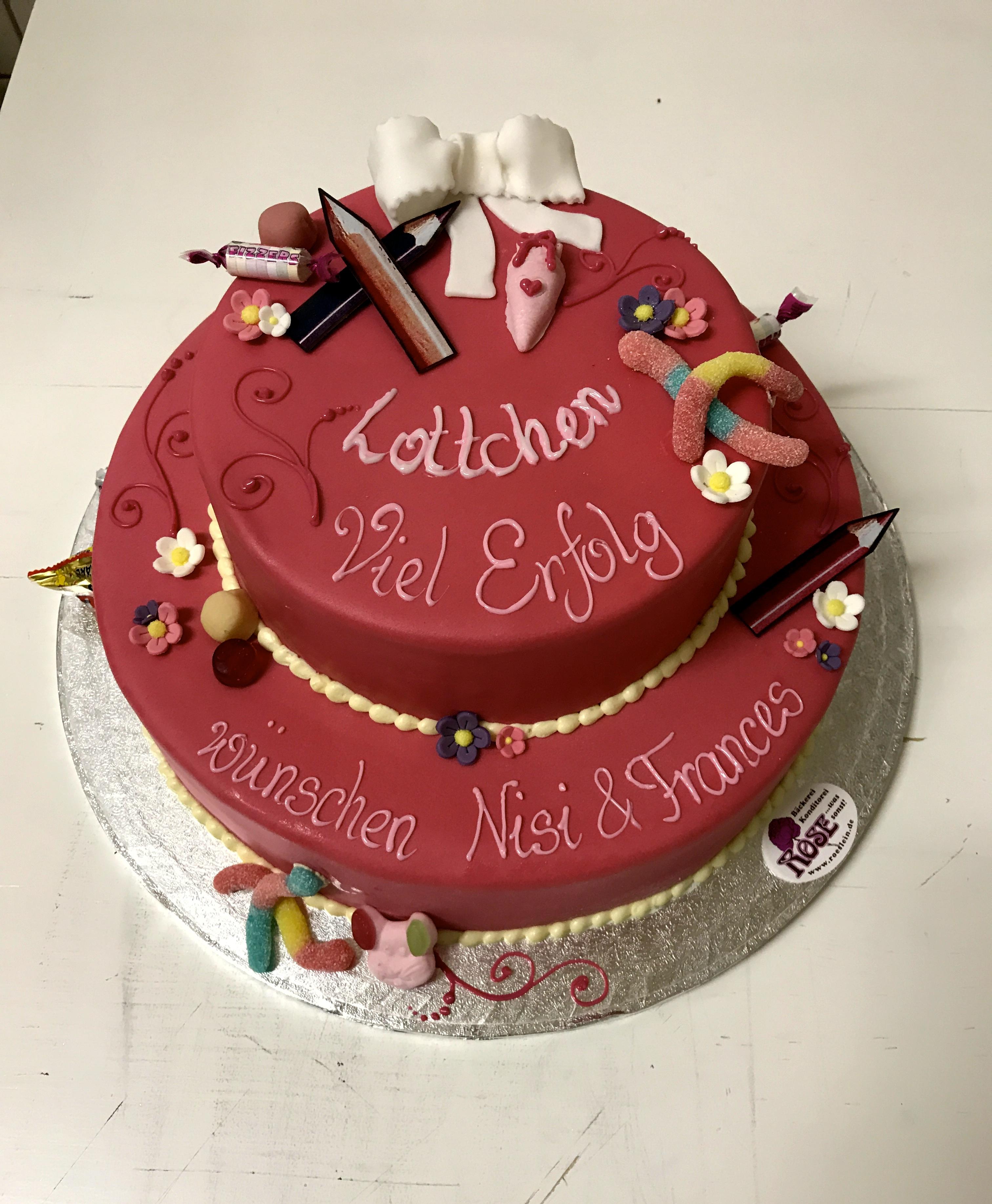 Schuleinführungs Torte Bäckerei Rose Weimar