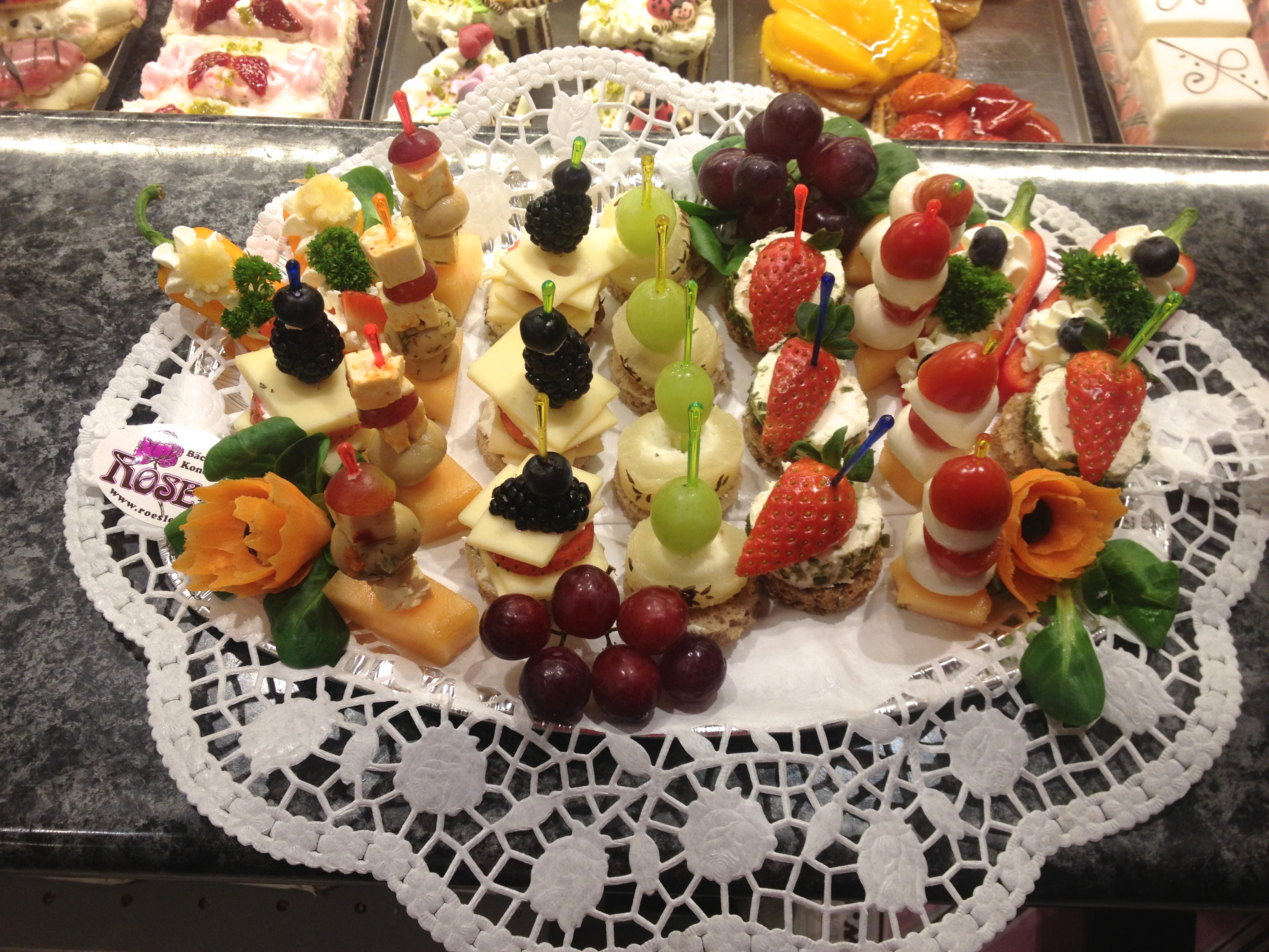 Käse Obstspieße Bäckerei Rose Weimar