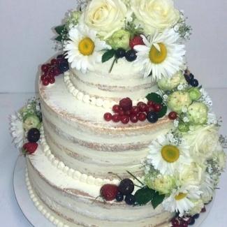 Hochzeitstorte Naked Cake Bäckerei Konditorei Rose Weimar