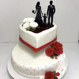 Hochzeitstorte 2 stöckig Bäckerei Rose Weimar