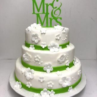 Hochzeitstorte weiß grün Bäckerei Rose Weimar