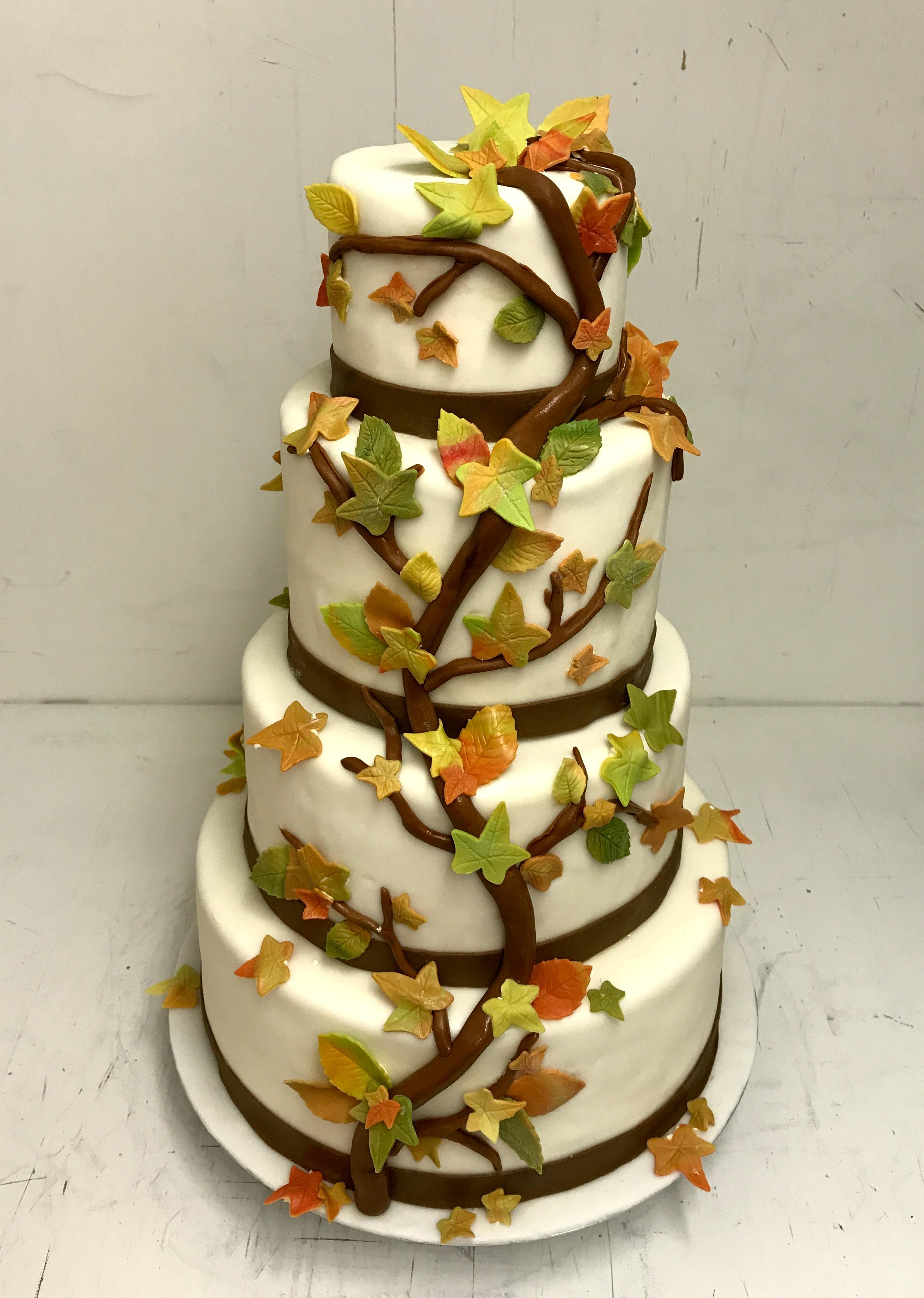 Herbst Hochzeitstorte Weimar Bäckerei Rose
