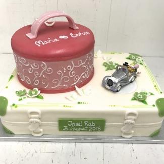 Hochzeitstorte  Bäckerei Konditorei Rose Weimar Koffer