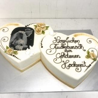 Hochzeitstorte  Bäckerei Konditorei Rose Weimar Herz